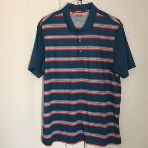 ⛳️ Adidas Men's ClimaCool Stripped Golf Polo - L